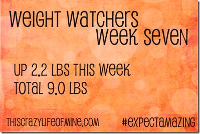WW Weekly weigh-in Week 7