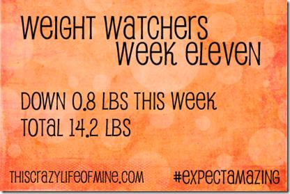 WW Weekly weigh-in Week 11