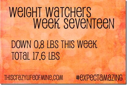 WW Weekly weigh-in Week 17
