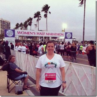 womens half 2012 pre race