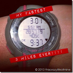 fastest 3 miles 091113