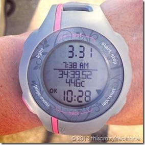 week 8 saturday run