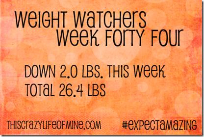 WW Weekly weigh-in Week 44