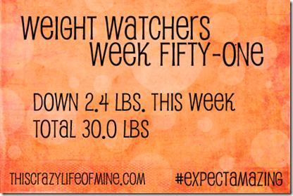 WW Weekly weigh-in Week 51