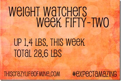 WW Weekly weigh-in Week 52