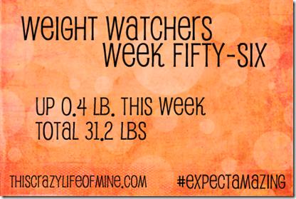WW Weekly weigh-in Week 56