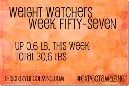 WW Weekly weigh-in Week 57