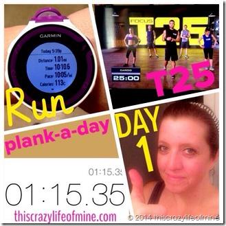 day 1 t25 challenge