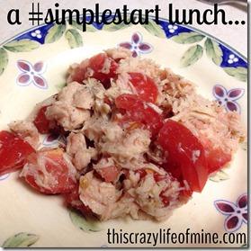 tuna and tomato lunch