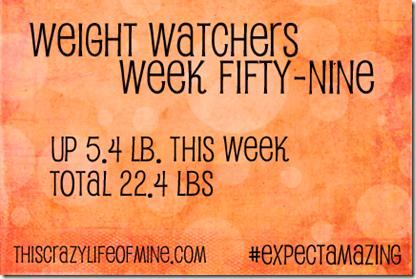 WW Weekly weigh-in Week 59